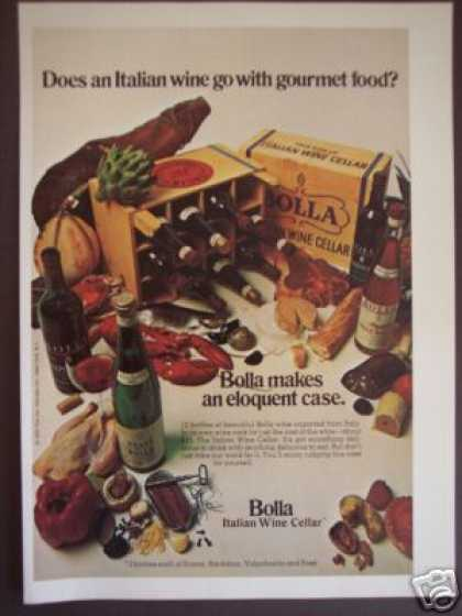 Bolla wine and food 1970's