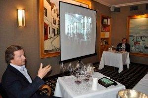 Lurton explaining modern fermentation techniques in Toro
