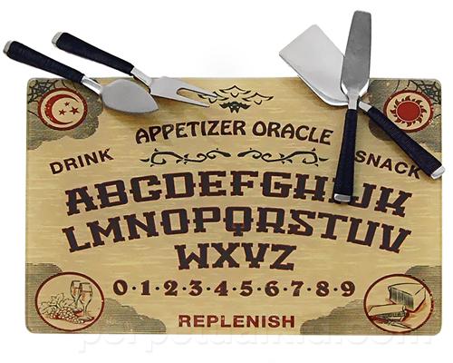 Ouija cheeseboard