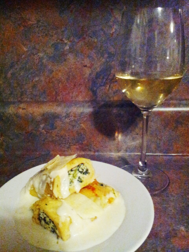 Louis Sipp Pinot Blanc with Spinach Crespette
