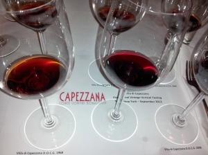 Vertical tasting of Villa di Capezzana